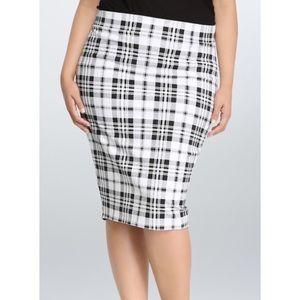 Torrid Plaid Print Midi Pencil Skirt